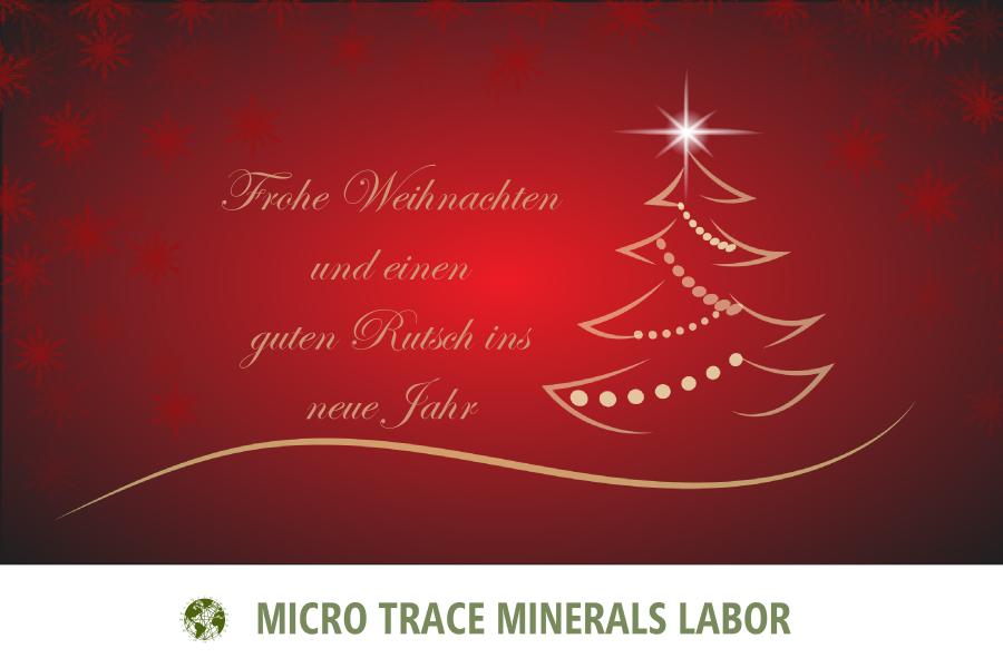 Weihnachtsgrüße von MTM | Micro Trace Minerals!